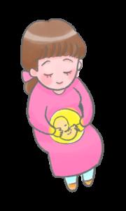 妊娠中のイラスト